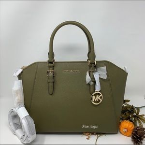 Michael Kors Ciara Large Top Zip Satchel